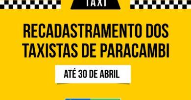 Recadastramento dos taxistas vai até 30 de abril